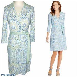 J. MCLAUGHLIN   Paisley Floral Print Wrap Dress